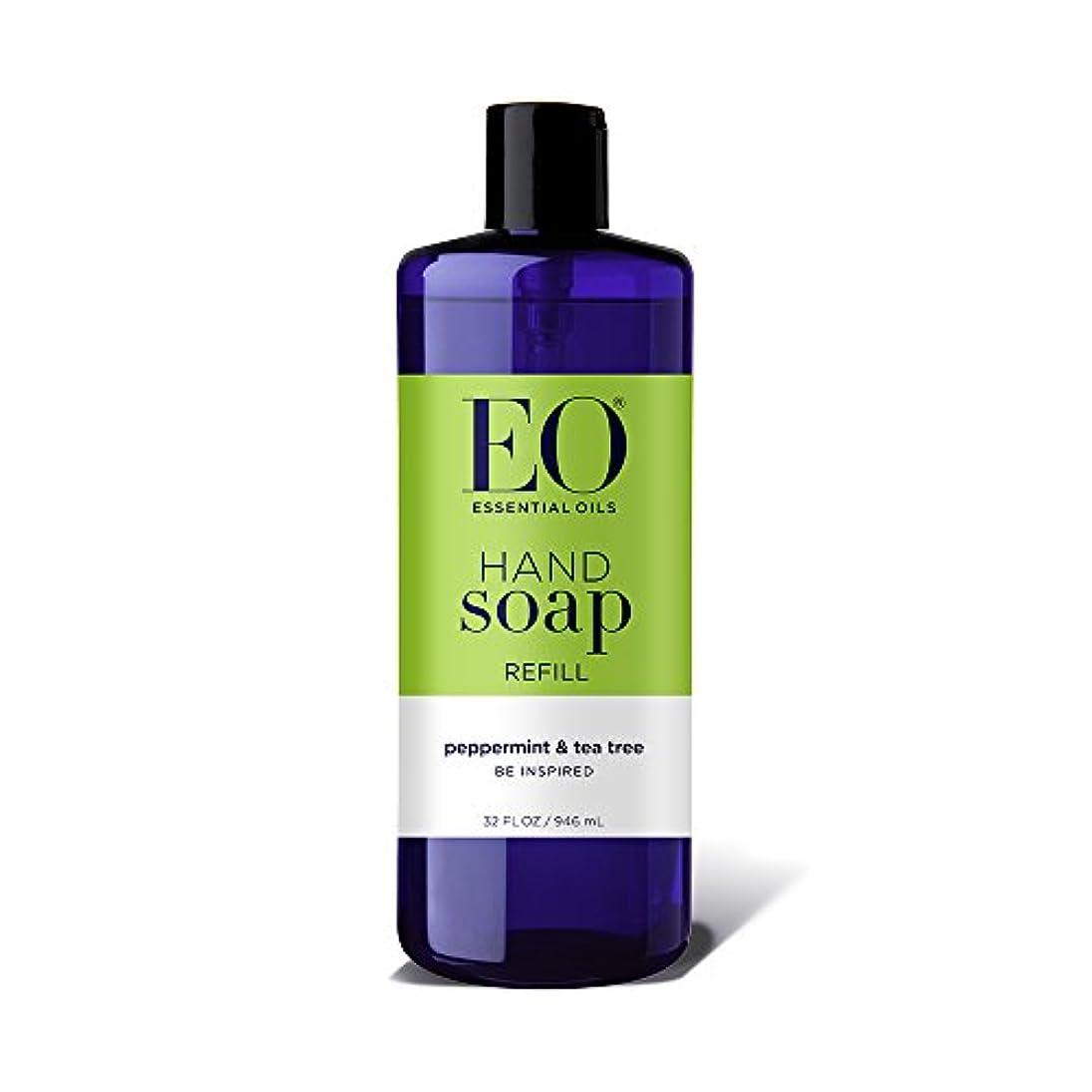 超高層ビルあそこきらきら海外直送品EO Products Hand Soap Peppermint Refill, Refill Peppermint & Tea, 32 Oz