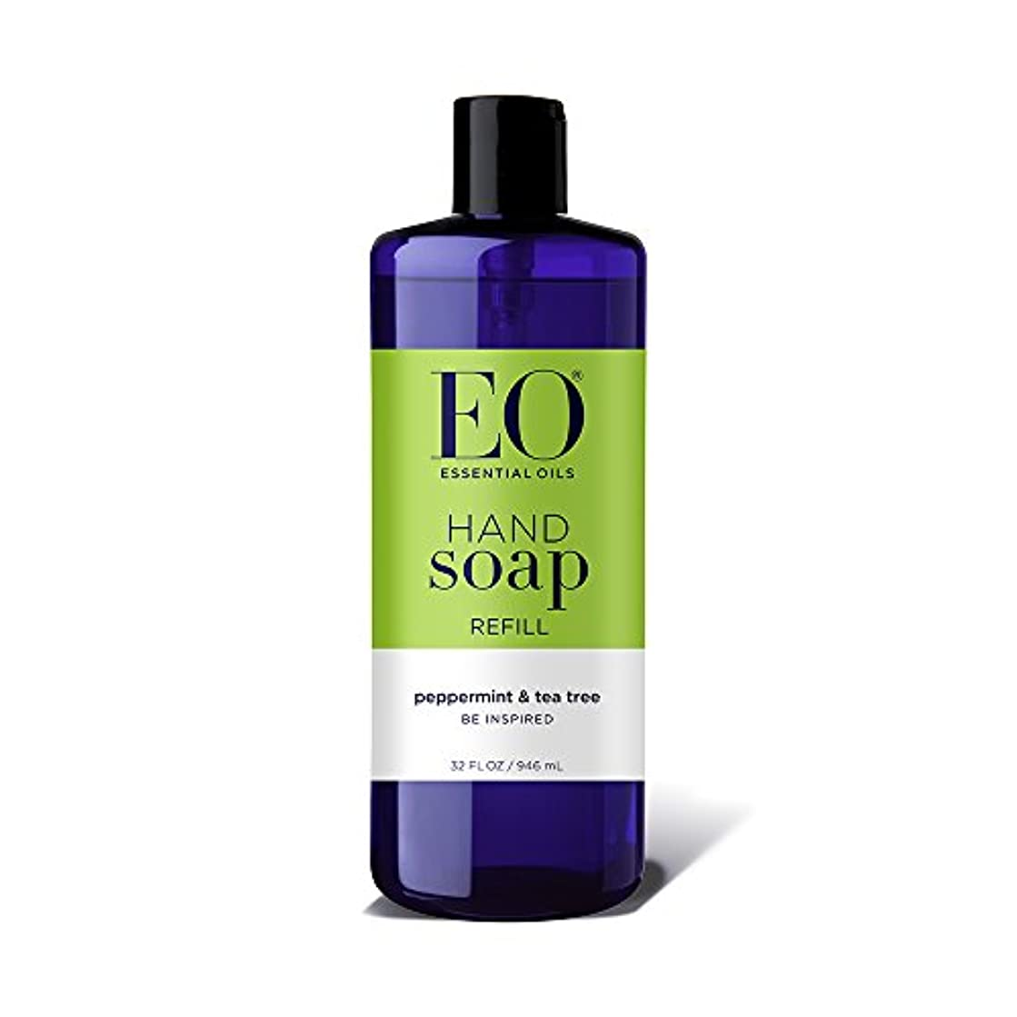 懐疑的メイド電話をかける海外直送品EO Products Hand Soap Peppermint Refill, Refill Peppermint & Tea, 32 Oz