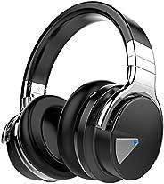 COWIN E7 Wireless Bluetooth Headphones with Mic Hi-Fi Deep Bass Wireless Headphones Over Ear, Comfortable Prot