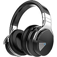 COWIN E7ANC ノイズキャンセリング ワイヤレス Bluetooth ヘッドホン 密閉型 高音質 マイク付き 30時間再生 NFC搭載 ケーブル着脱式 iphone x PC Mac などに対応 ブルートゥース ステレオヘッドフォン