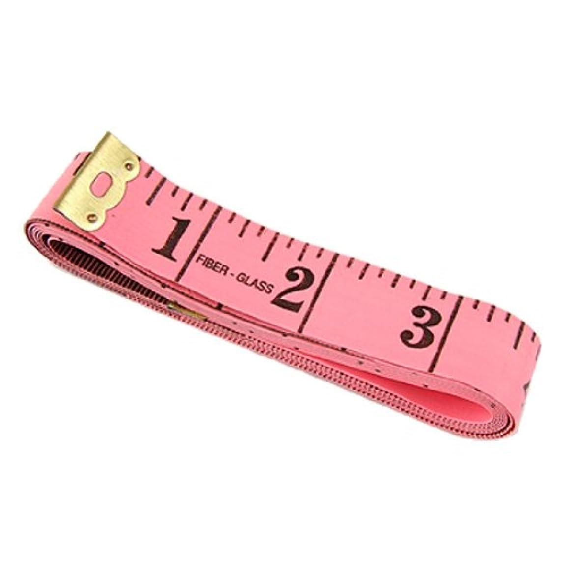 キャラクターご覧くださいよろめくuxcell 巻尺 テープメジャー ダブル側 1.5M測量範囲 ピンク メタル製 ブラック 1mm精密さ
