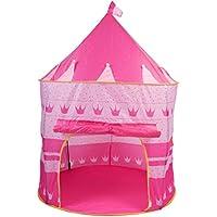 テント夢のガールズ再生プリンセスPlayhouse Castle Pop Up寝室インドアアウトドアBig子子供ポータブルピンク家キュートPlayroom & eBook