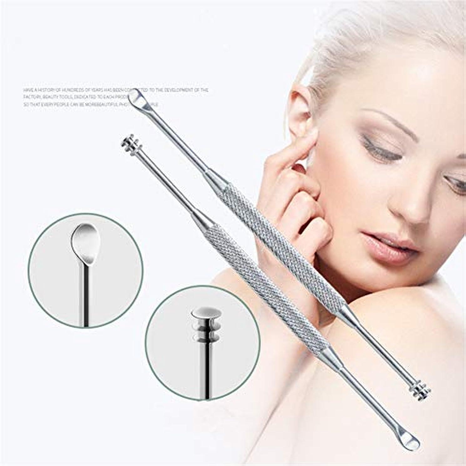 貢献する年観察するZHQI-GH 1ピース&3ピース新しいステンレス鋼の皮の耳シルバーディグ耳かきワックスリムーバーキュレット用クリーニング耳スプーンクリーンヘルスケア耳ケアツール40 (Color : Silver, Size : 1pcs)
