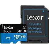 1TB microSDXCカード マイクロSD Lexar レキサー Class10 UHS-1 U3 V30 A2 R:100MB/s W:70MB/s SDアダプタ付 1.0TB 海外リテール LSDMI1TBB633A