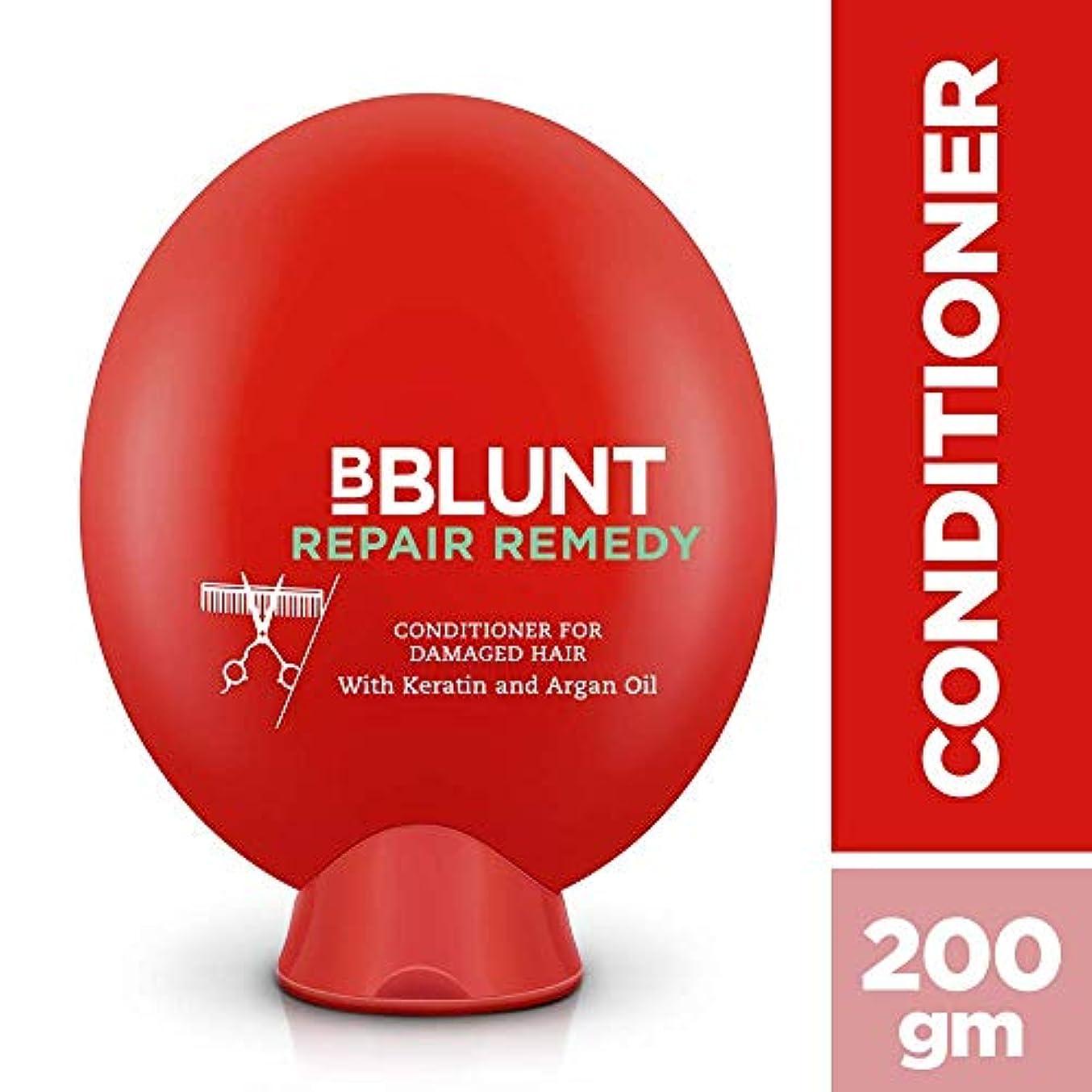 アクティブ貯水池不条理BBLUNT Repair Remedy Conditioner for Damaged Hair, 200g (Keratin and Argan Oil)
