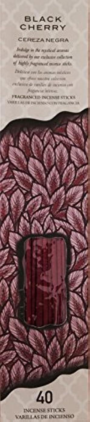許されるプレゼンター物質Flora ClassiqueブラックチェリーフルーツCereza Negra Therapy Incense 40 ct Fragancedスティック