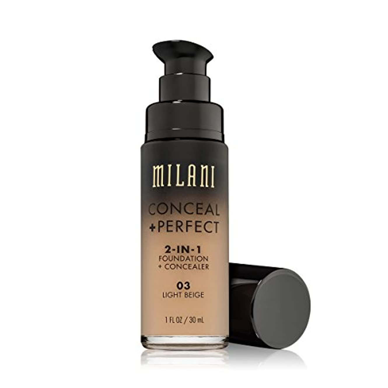 彼女自身化粧葉を集めるMILANI Conceal + Perfect 2-In-1 Foundation + Concealer - Light Beige (並行輸入品)
