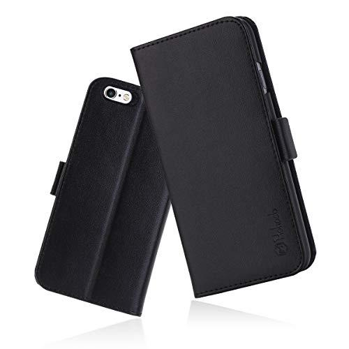 iPhone6s Plus ケース 手帳型 iPhone6 Plus カバー 財布型 サイドマグネット式 カード収納 スタンド機能 高級PUレザー iPhone6 plus ケース 耐衝撃 アイフォン6 plus 手帳型ケース 全面保護 耐摩擦 人気 おしゃれ Hohosb(iPhone6s/6 Plus用, ブラック)