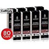 Grinders Coffee Caffitaly Compatible Capsules, 80 Double Espresso Capsules