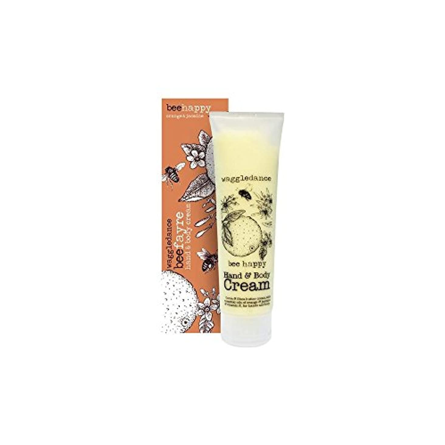 大統領さらに農学Beefayre Bee Happy Hand & Body Cream (100ml) Beefayre蜂幸せな手とボディクリーム( 100ミリリットル) [並行輸入品]