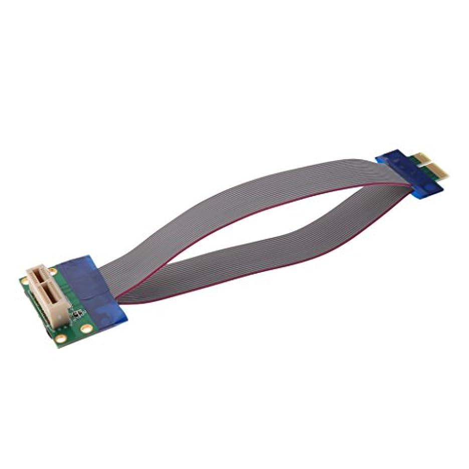 側面赤面連鎖Fenteer 銅線ライザーカードエクステンダー PCI-Eエクスプレス  1X スロット ライザー カード エクステンダ 拡張 リボン フレックス ケーブル 15cm