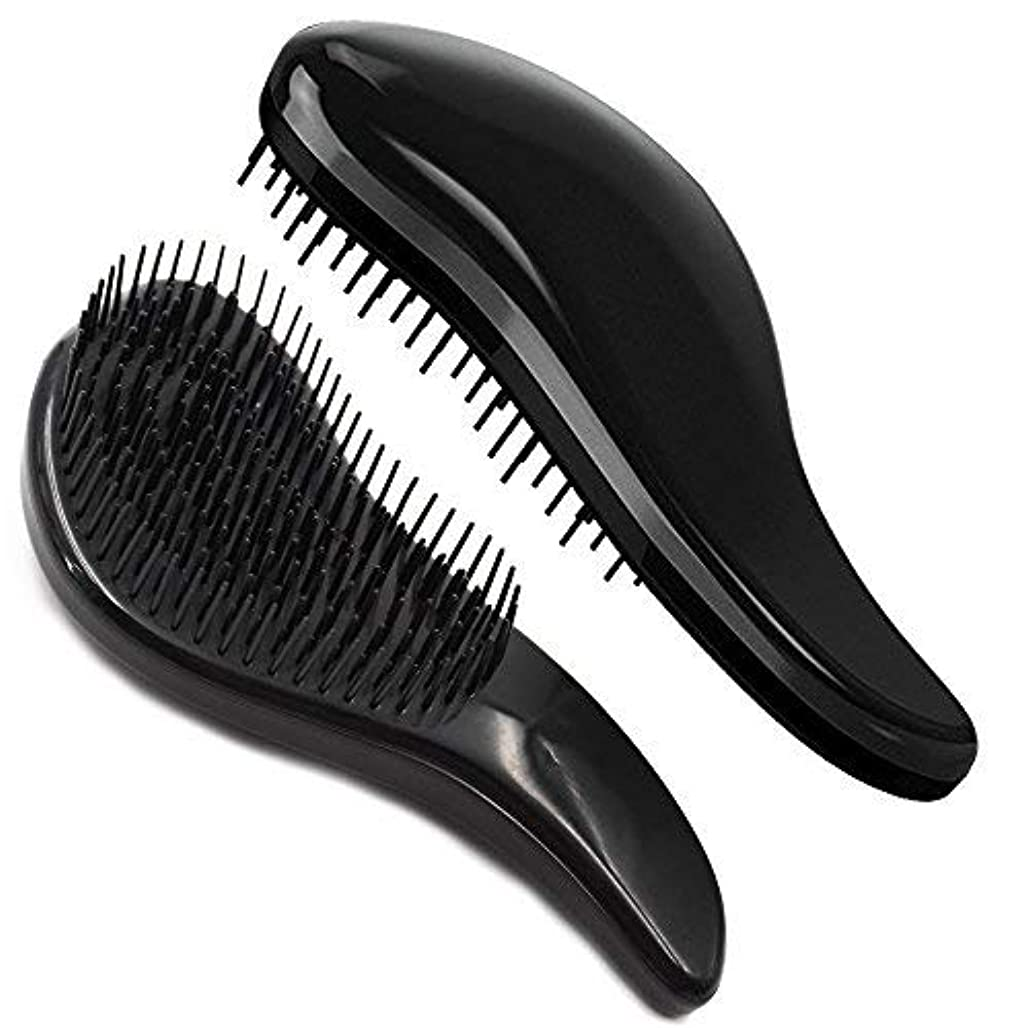 周波数事故川Brush Master Detangler Hair Comb Hair Brush for Wet Hair Curly Hair Straight Hair for Women Men Kids Black [並行輸入品]