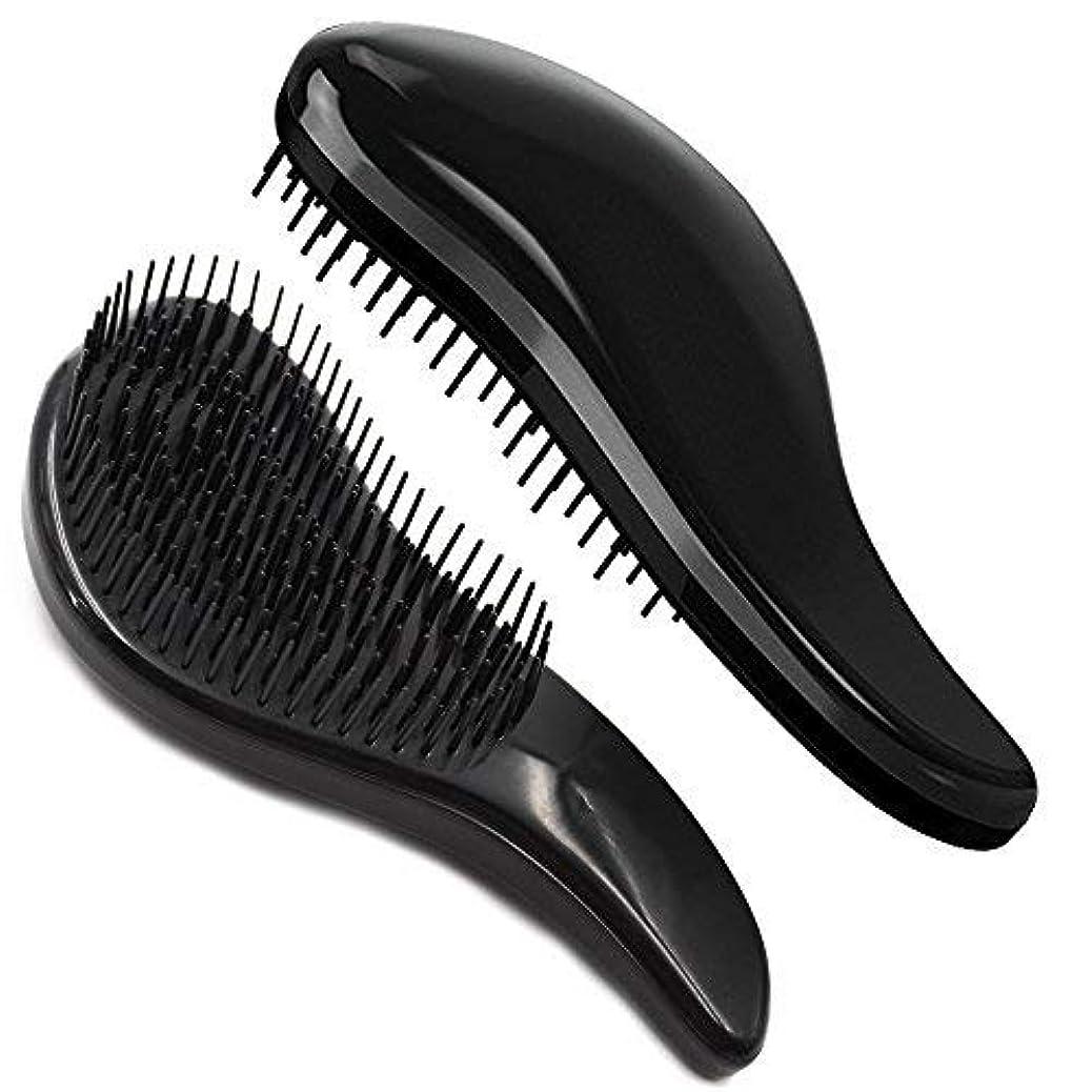 コントロール成功した遮るBrush Master Detangler Hair Comb Hair Brush for Wet Hair Curly Hair Straight Hair for Women Men Kids Black [並行輸入品]