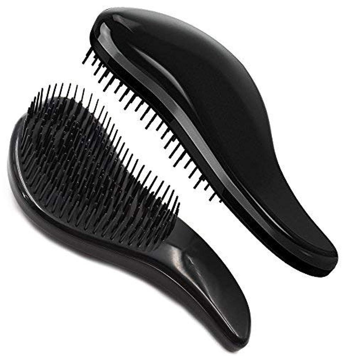 慰め正直手足Brush Master Detangler Hair Comb Hair Brush for Wet Hair Curly Hair Straight Hair for Women Men Kids Black [並行輸入品]
