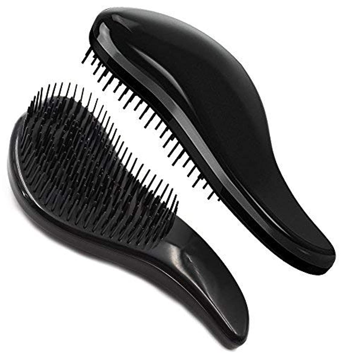 ロッカーショット騒々しいBrush Master Detangler Hair Comb Hair Brush for Wet Hair Curly Hair Straight Hair for Women Men Kids Black [並行輸入品]