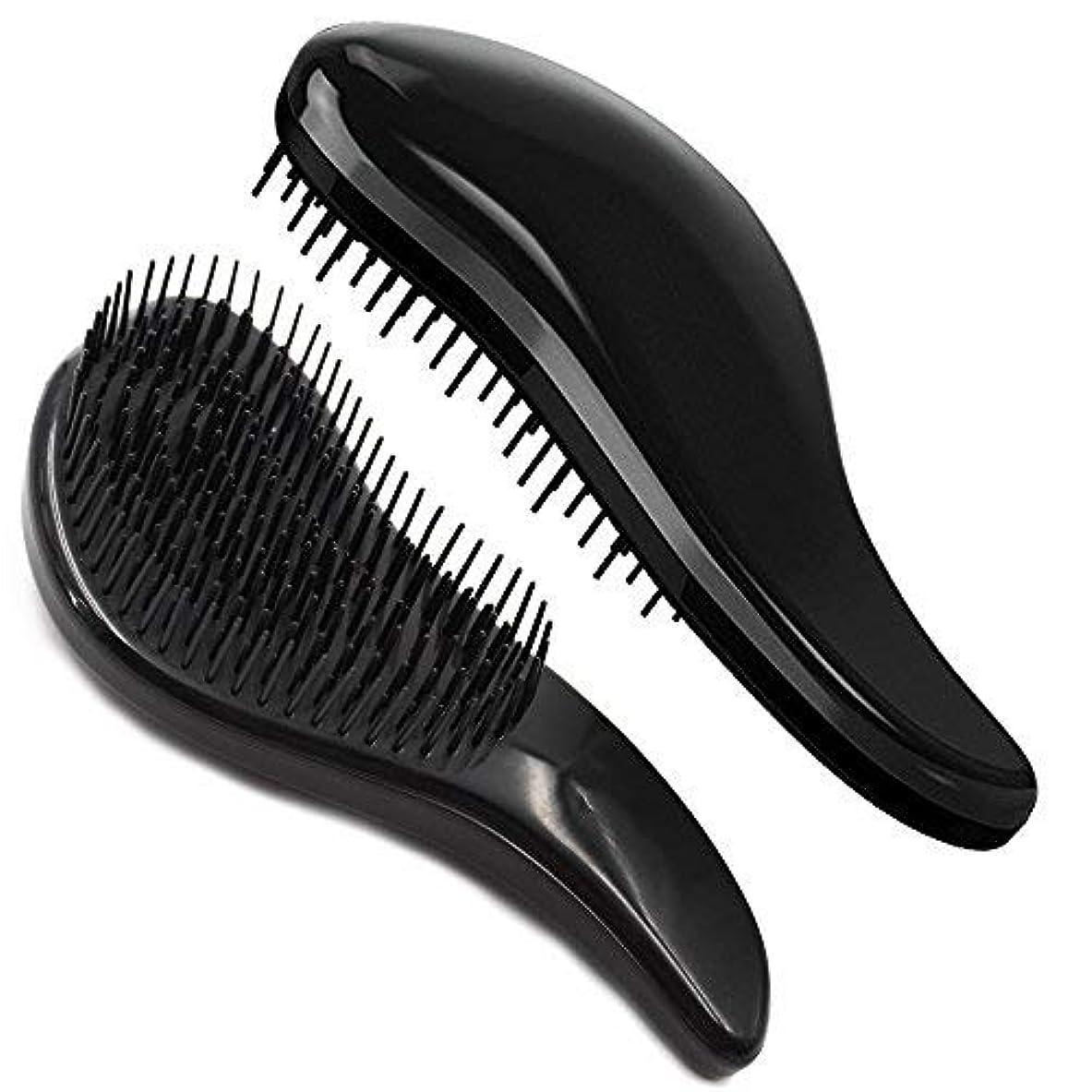 セットするステップモンスターBrush Master Detangler Hair Comb Hair Brush for Wet Hair Curly Hair Straight Hair for Women Men Kids Black [並行輸入品]