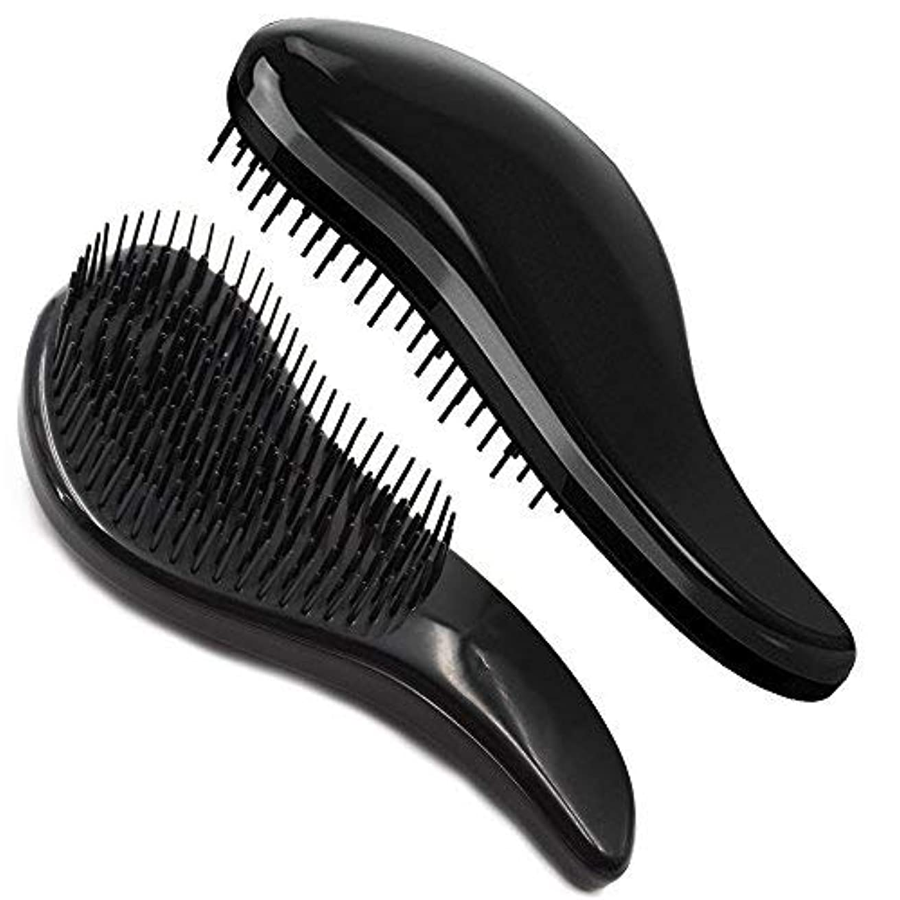 Brush Master Detangler Hair Comb Hair Brush for Wet Hair Curly Hair Straight Hair for Women Men Kids Black [並行輸入品]