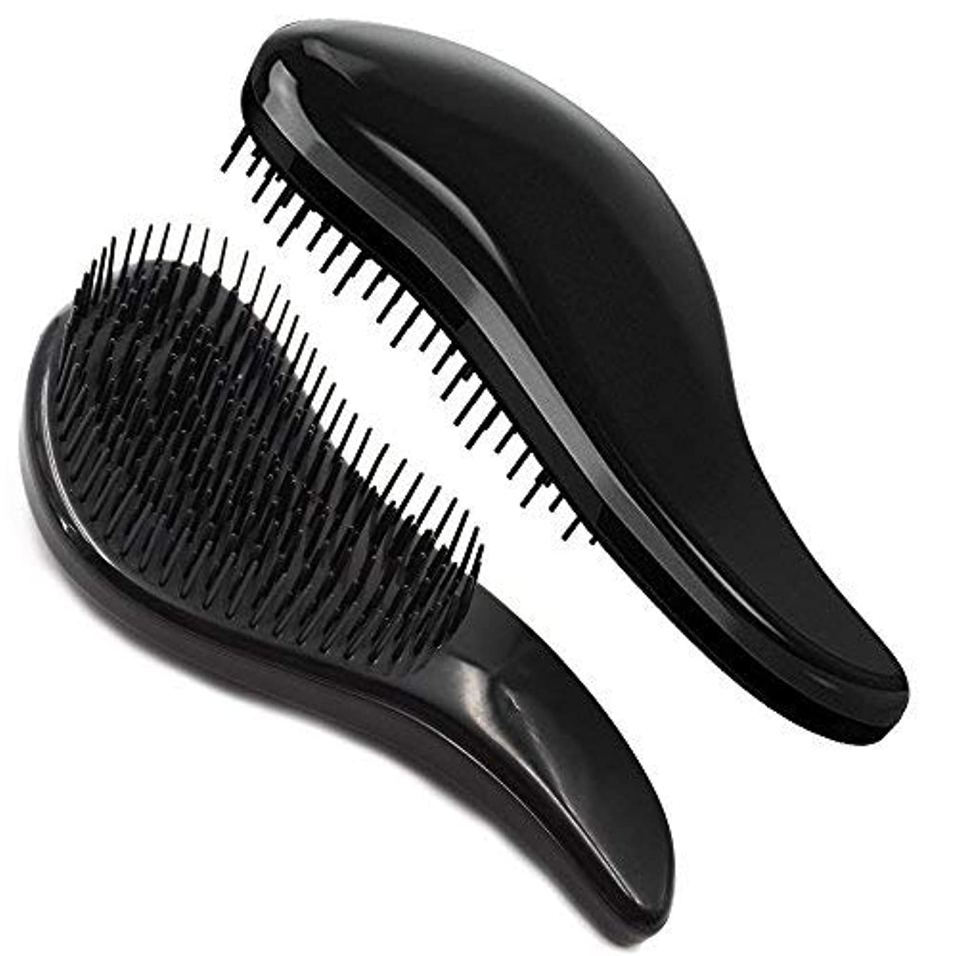 失う腹部槍Brush Master Detangler Hair Comb Hair Brush for Wet Hair Curly Hair Straight Hair for Women Men Kids Black [並行輸入品]
