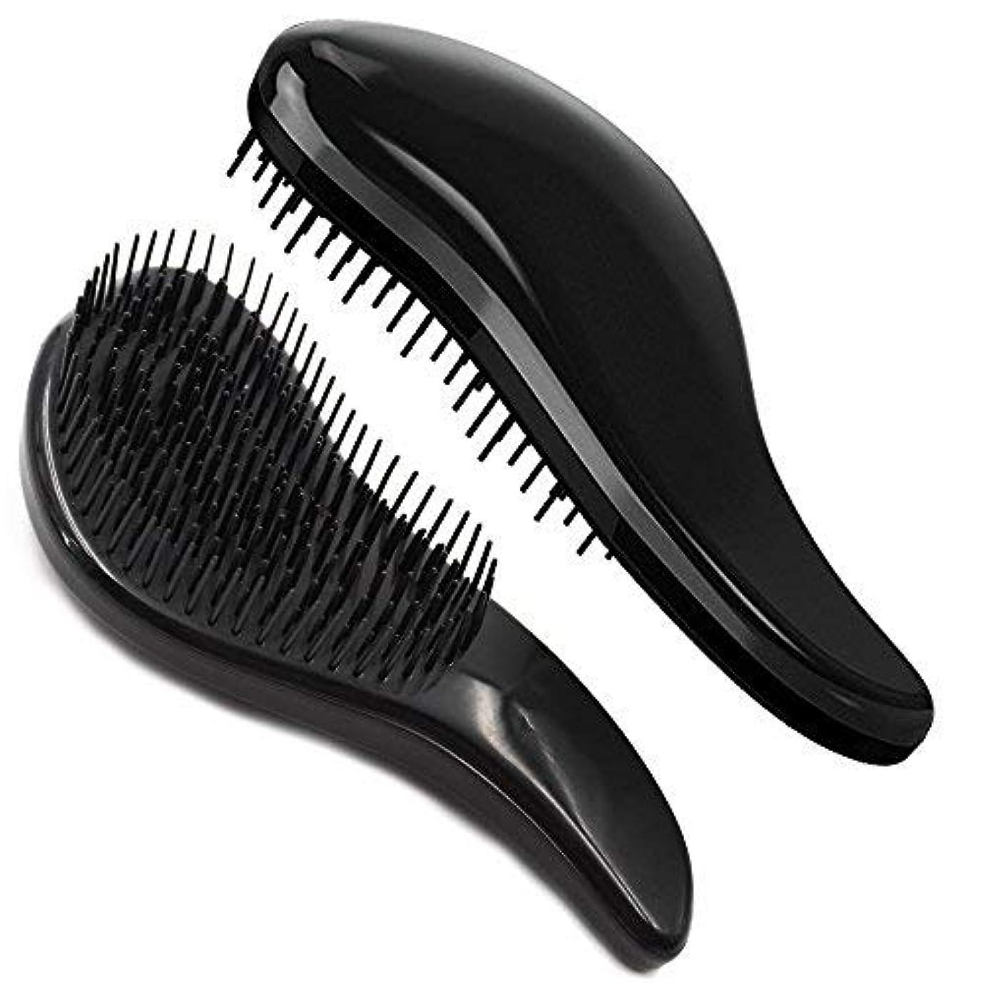 満足させる純粋な破壊Brush Master Detangler Hair Comb Hair Brush for Wet Hair Curly Hair Straight Hair for Women Men Kids Black [並行輸入品]
