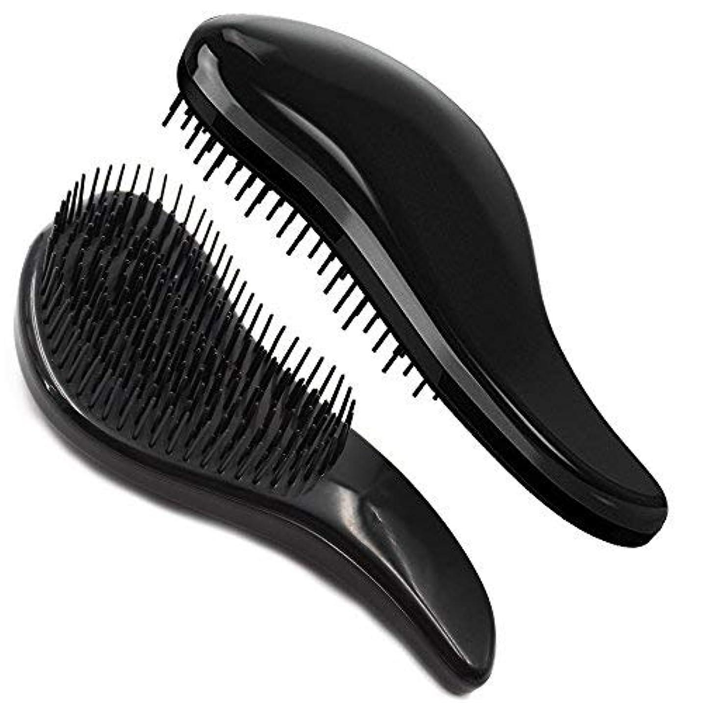 離れた通信する起こりやすいBrush Master Detangler Hair Comb Hair Brush for Wet Hair Curly Hair Straight Hair for Women Men Kids Black [並行輸入品]