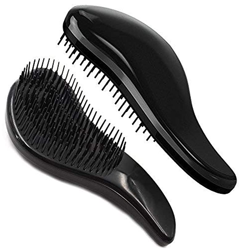 温かい最初生理Brush Master Detangler Hair Comb Hair Brush for Wet Hair Curly Hair Straight Hair for Women Men Kids Black [並行輸入品]