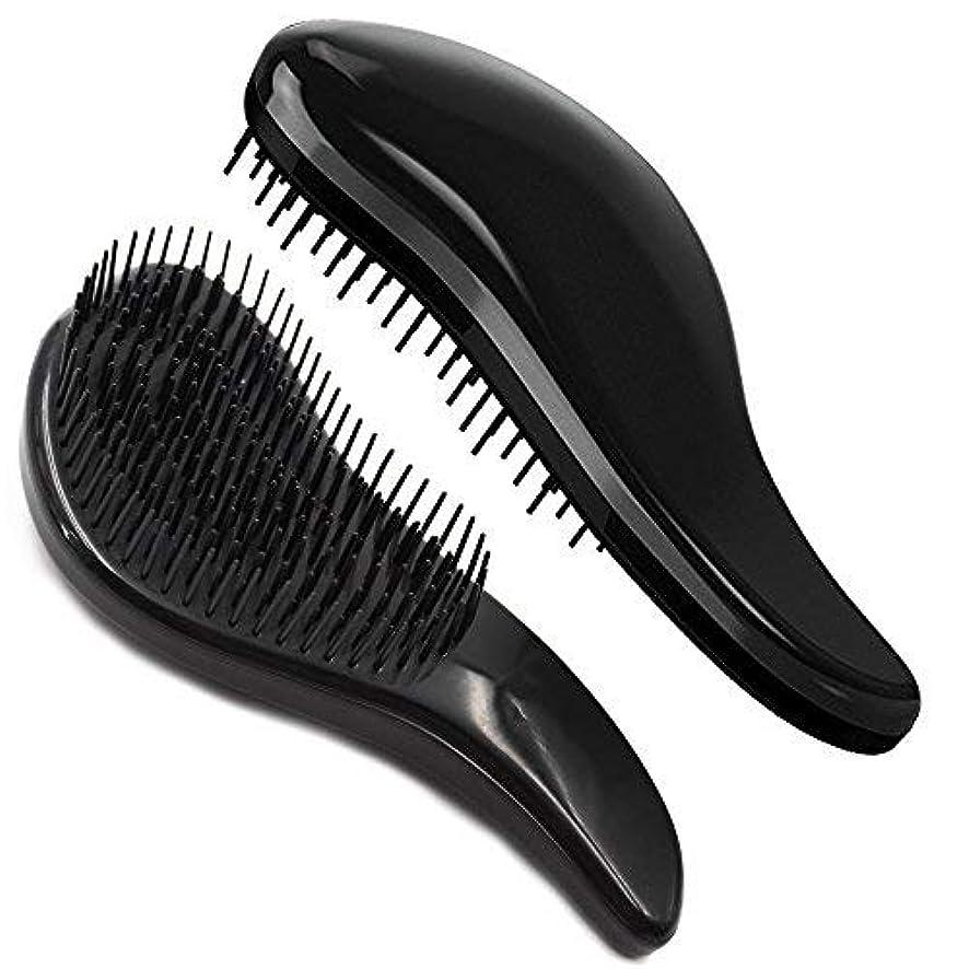 病マニアック報告書Brush Master Detangler Hair Comb Hair Brush for Wet Hair Curly Hair Straight Hair for Women Men Kids Black [並行輸入品]