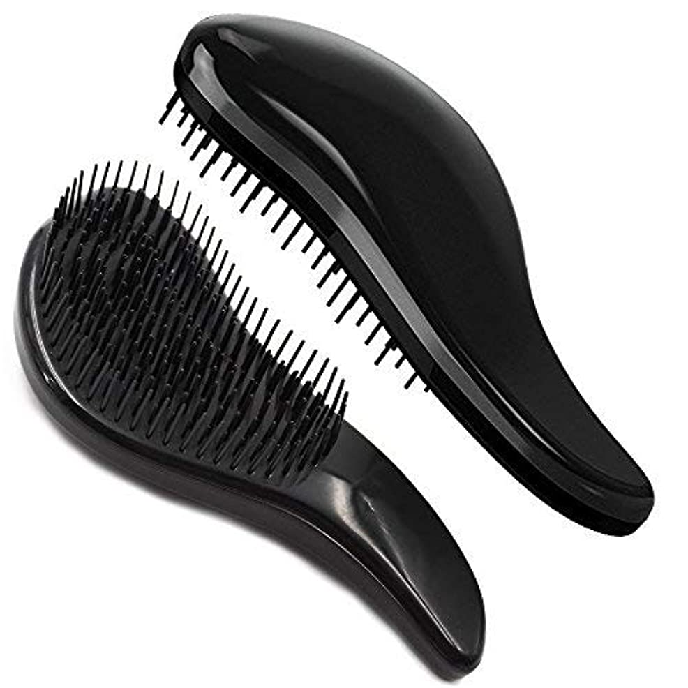 拍車マーガレットミッチェル無謀Brush Master Detangler Hair Comb Hair Brush for Wet Hair Curly Hair Straight Hair for Women Men Kids Black [並行輸入品]