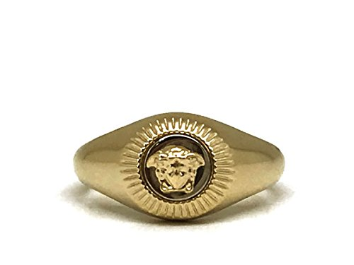 (ベルサーチ) VERSACE ロゴ リング・指輪 メデューサ ゴールド DG5G117-DJMT-DPOC-19 [並行輸入品]