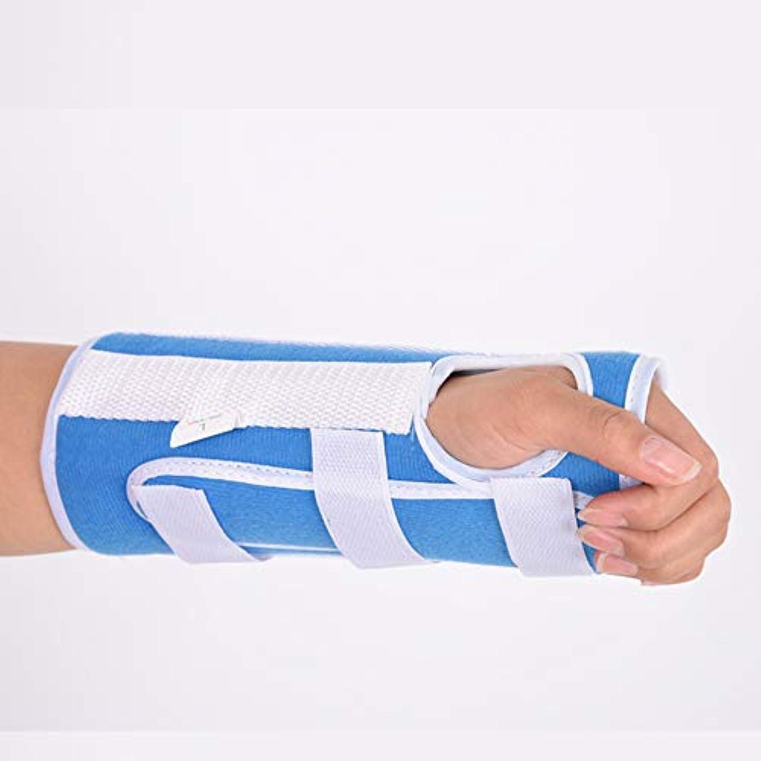 許されるスペイン語盲目手根管用手首装具、関節炎および腱炎用の快適で調整可能な手首支持装具、左手と右手の両方に適合,S
