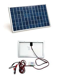 ECO-WORTHY ソーラーパネルキット バッテリー寿命保護3Aチャージーコントローラー付属 野外に 10W 12V