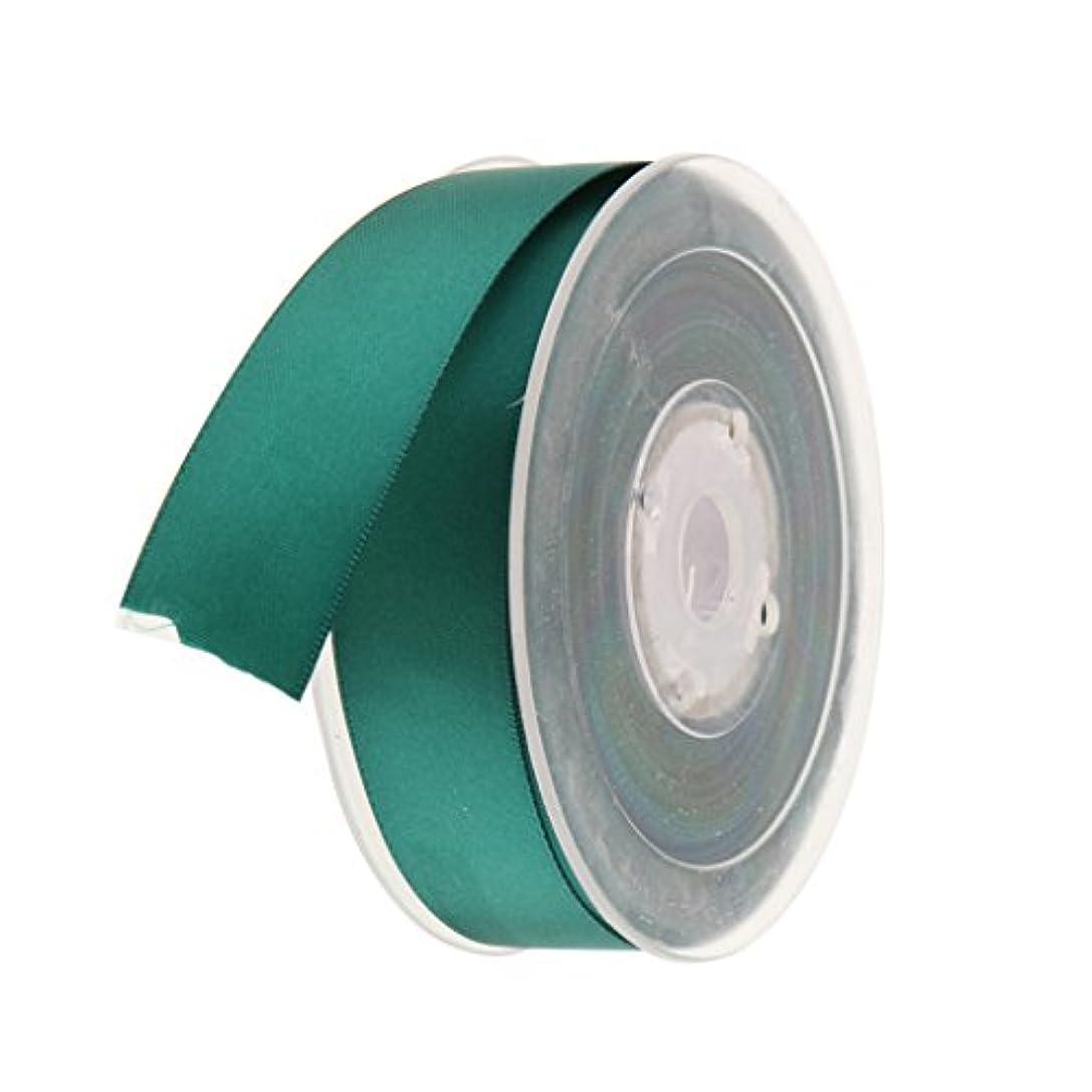 住むフォロー皿全22色選べ 25mm サテンリボン ギフトリボン 包装用小物 DIYクラフト 両面ポリエステル 長さ20m  - 深緑