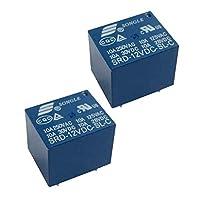 20個のプラスチック製ミニパワーソングルリレー12V 10A SPDT 5ピンPCB SRD-12VDC-SL-C