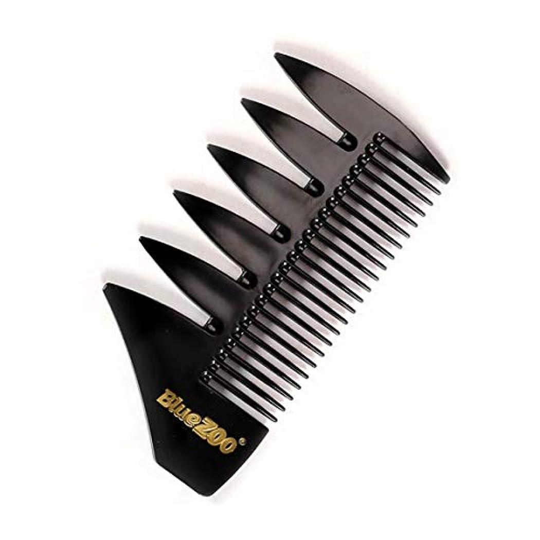 時刻表標高モードリンOU-Kunmlef オイルヘッドコーム レトロ シンプル 気質 男性用(None Black Short Comb)