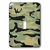 3drose LLC 3drose LLC lsp _ 157593_ 1グリーンカモ–Armyスタイルパターン印刷–オリーブ、迷彩ブラック–Military Combat Soldierテクスチャ–Single切り替えスイッチ