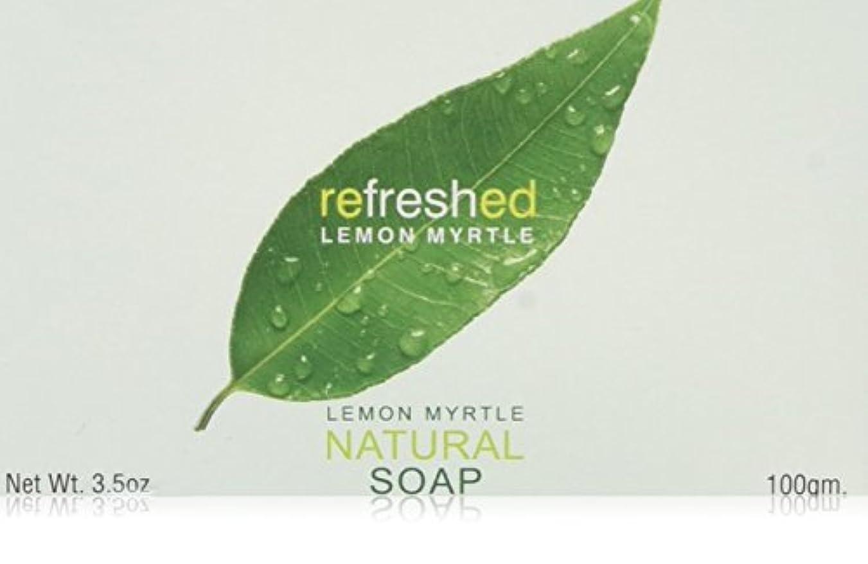 記録研磨噴出するLemon Myrtle Natural Soap - 3.5 oz by Tea Tree Therapy