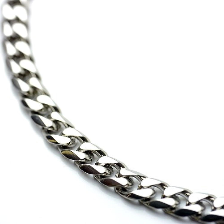 シルバーワン(Silver1) ku 喜平 ネックレス[銀色 6面カット 幅5mm]50cm ステンレス キヘイ チェーン メンズ