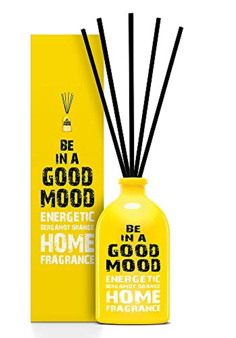 まつげサーマル実験をするBE IN A GOOD MOOD ルームフレグランス スティック タイプ BERGAMOT ORANGEの香り (100ml)