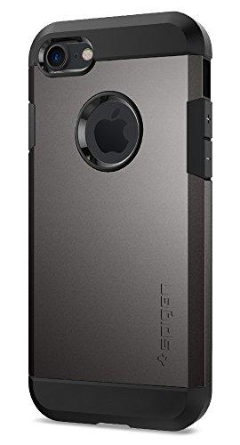 【Spigen】 iPhone7 ケース, タフ・アーマー [ 米軍MIL規格取得 衝撃吸収パターン加工 ] アイフォン 7 用 耐衝撃カバー (iPhone7, ガンメタル)