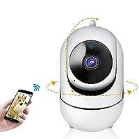 Wanmeisuda ネットワークカメラ 監視カメラ 360度パノラマ 1080P 暗視撮影 動体検知 遠隔監視 双方向通話 wifi 防犯カメラ ワイヤレス iPhone/Android対応 子供ペット見守り 屋内用 ベビーモニター (EE05)