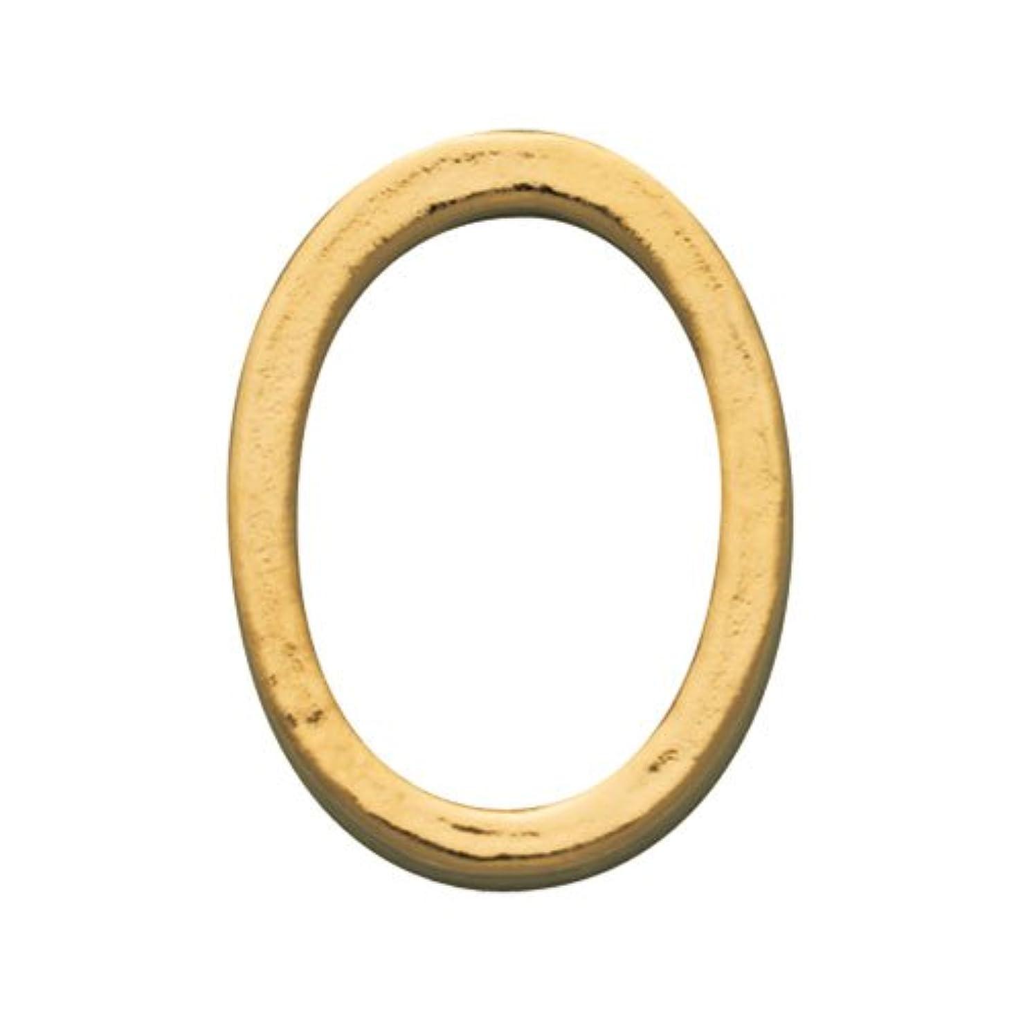 排除キャンバス定期的なプリティーネイル ネイルアートパーツ プレーンオーバルL ゴールド  10個