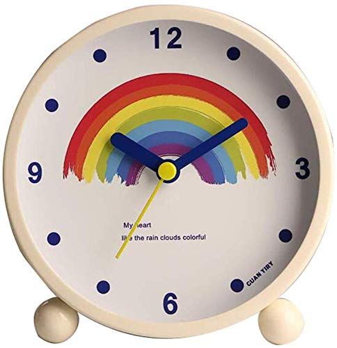 家の装飾時計/アートかわいいメタルクリエイティブミュートナイ...