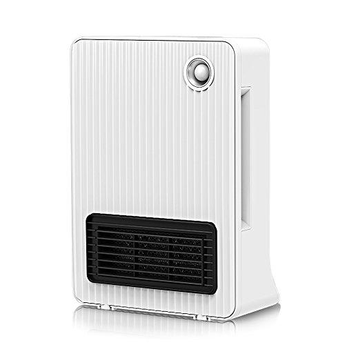 Fochea セラミックヒーター 人感センサー付き 電気ファンヒーター 1200W/600W 温風&送風 省エネ コンパクト 転倒off機能搭載 安心安全 脱衣所、洗面所、トイレなど対応 ホワイト