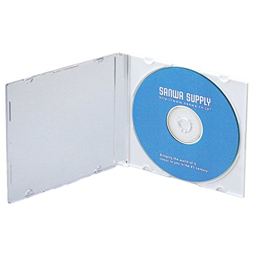 サンワサプライ スリムBD DVD CDケース 1枚収納×50 マットホワイト FCD-PU50MW