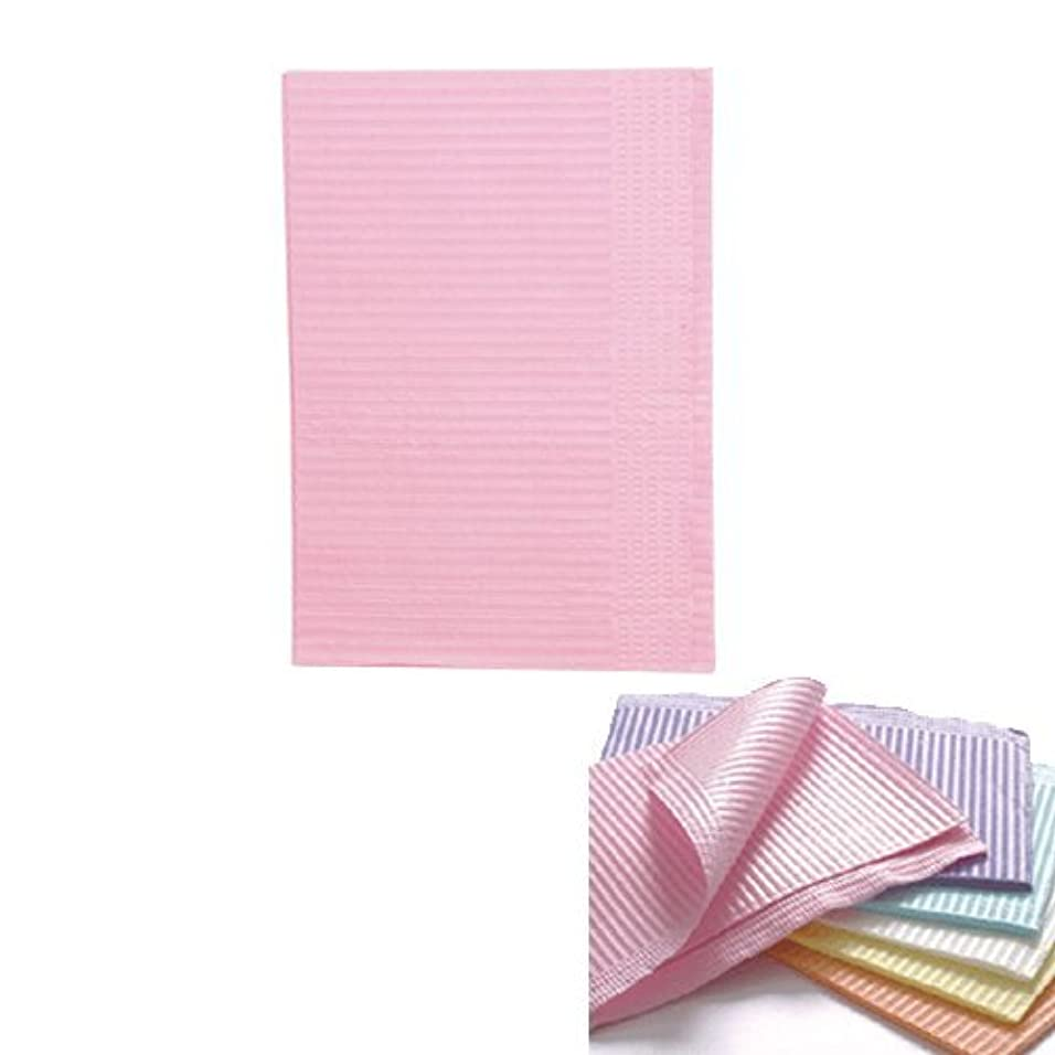 縫い目抵抗刺繍ネイル 防水ペーパー/裏面防水ネイルシート 50枚 ピンク