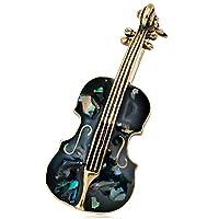 Fliyeong ヴィンテージバイオリンブローチアパレルアクセサリー女性」ラペルバッジレトロブローチジュエリー、2#創造的で便利