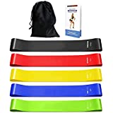 Resistance Bands, [Set of 5] TERSELY Skin-Friendly Resistance Fitness Exercise Loop Bands with 5 Different Resistance Levels