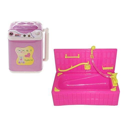 Baoblaze プラスチック製 バスタブ 洗濯機セット バ...