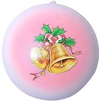 Oldeagle クリスマスベルパン ゆっくり元に戻る圧力 ストレス解消 おもちゃ キーペンダント 子供と大人用 8x 8x 5CM ピンク 84374153