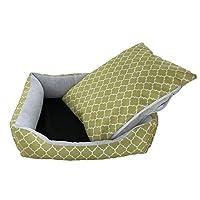 春と夏の犬小屋犬猫のトイレの防水印刷ペット巣パッド取り外し可能と洗えるペット用品(カラー:ターコイズ、サイズ:S)