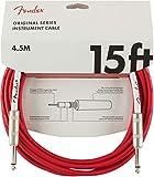 Fender シールドケーブル Original Series Instrument Cable, 15', Fiesta Red